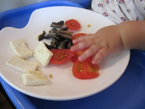 Dinner for a baby-led weaned baby