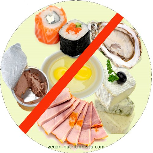 Most of the foods to avoid during pregnancy are non-vegan items like raw fish, raw shellfish, soft cheeses, deli meats, pates, raw eggs, and fish high in mercury and contaminants.