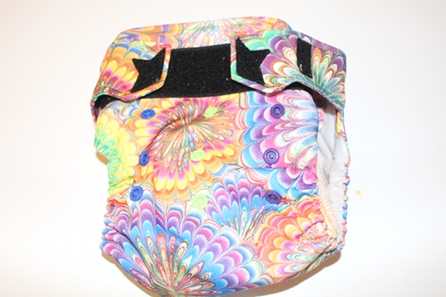 Ragababe All-in-Two Cloth Diaper. It has two soaker pads; the second to swap in when the first gets dirty.