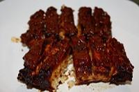 Vegan BBQ Tempeh Ribz