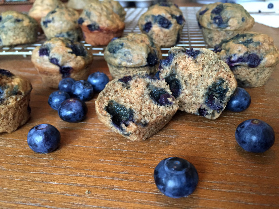 Vegan Blueberry Muffins with Aquafaba and whole wheat flour
