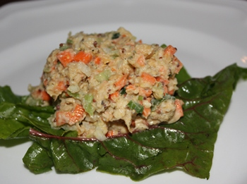 Vegan Tuna Salad Made from Chickpeas