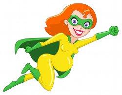 Superheroine for Newsletter